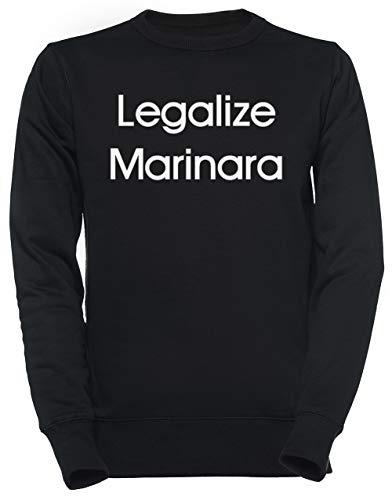 Luxogo Legalize Marinara Unisexo Negro Sudadera Hombre Mujer Unisex Black Jumper Men's...