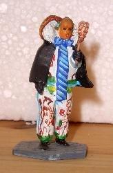 Villinger Narro mit Umhang & Staubwedel handbemalt 54 mm Zinnfigur