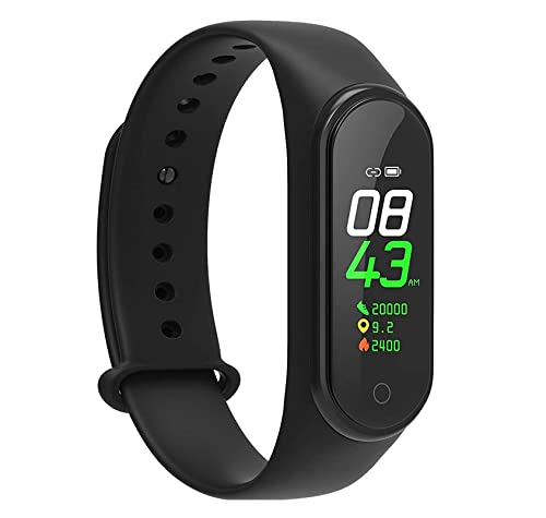 TechKing (Big Million + Billion Deal with 8 Year Warranty) M4 Band Heart Rate Monitor OLED Display Bluetooth 4.0 Waterproof Sports Health Activity Fitness Tracker Silicone Smart Bracelet