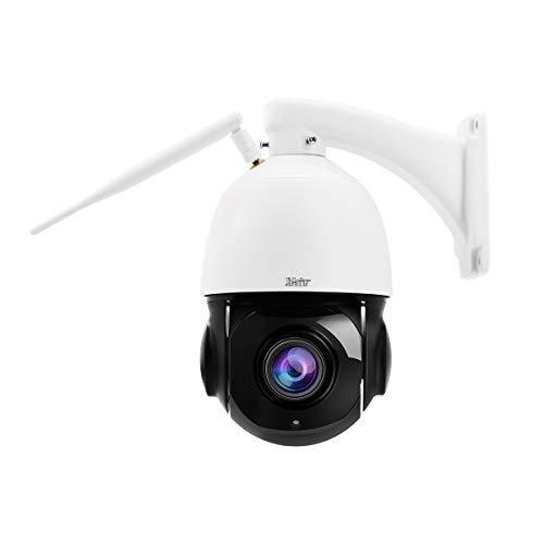 PTZ WiFi IP Überwachungskamera Aussen,5MP 360° Dome Kamera,IP66 Wasserdicht,20x optischer Zoom,Eingebautes Zwei Wege Audio,Humanoide Bewegungserkennung, 70M IR Nachtsicht,Support 128G Micro SD Karte