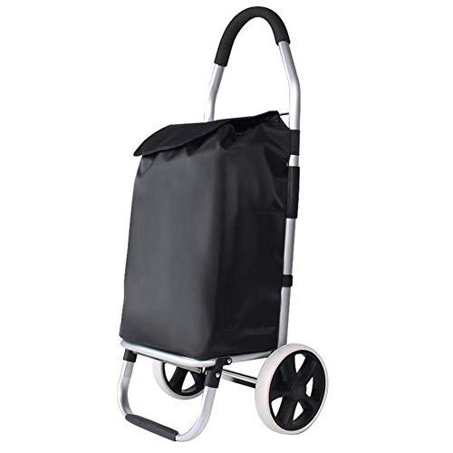 HYY-YY Carros de la compra, carros portátiles, carros pequeños, carros plegables, palancas de aleación de aluminio, adecuado para compras de supermercado. Tamaño: 33 x 28 x 100 cm.