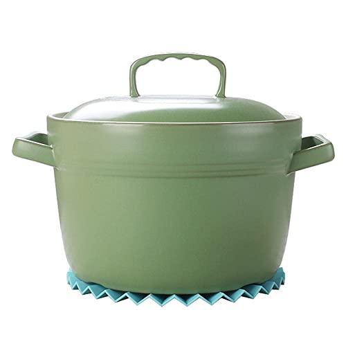 Olla barro refractario Terracotta Cazuela Pot Caserol Casserole Clay Pot Clay Clay Pot Caja de cocción Alta Temperatura Resistente,Universal for la cocina de inducción y la estufa de llama abierta.-2L
