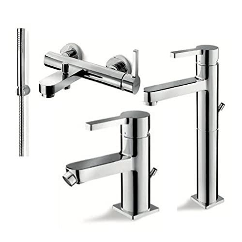 Juego de grifos de latón lavabo modelo alto / bidé / bañera - Serie Marna Vema