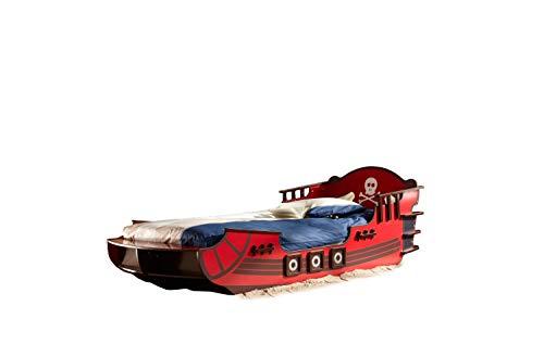 Piratenbett Huck 90 * 200 Seeräuber Schiff Boot Kinderbett Jugendbett Jugendliege Bettliege Einzelbett Bett Jugendzimmer Kinderzimmer Spielbett