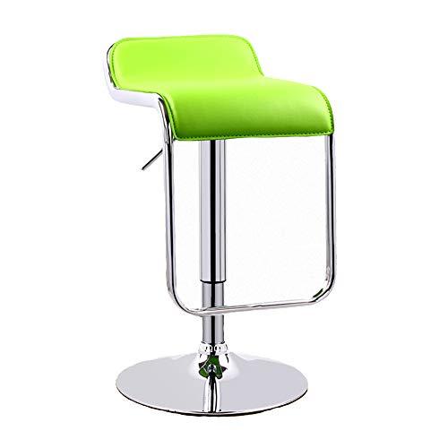 Huifang Corrective chair QFFL jiaozhengyi Barhocker, Hebeschiebetüren Barhocker Plus Große Chassis Bar Drehstuhl Home High Hocker (Farbe : Green)