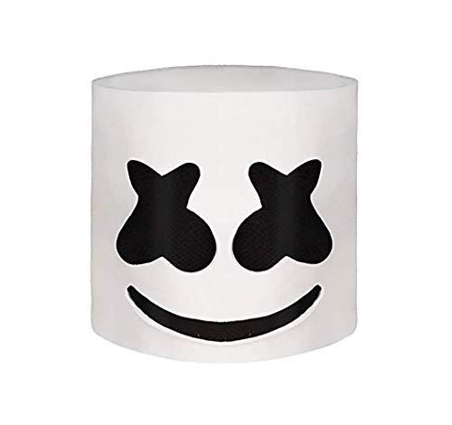 Masken DJ Maske Party Bar Musik Cosplay Helm für Kinder Erwachsene Neuheit Kostüm Party, Weiß