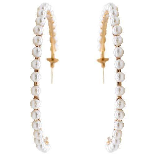 Pendientes Pearls en forma de aro de plata de ley 0925 bañados en oro rosa con perlas barrocas.