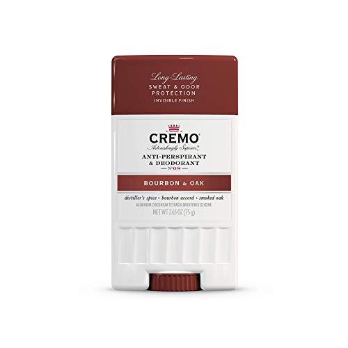 Cremo Bourbon & Oak Anti-Perspirant & Deodorant, Long-Lasting Sweat & Odor Protection, 2.65 Oz
