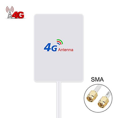 SMA 4G Hochleistungs LTE Antenne 15dBi WiFi Signal Booster Verstärker Modem Adapter Netzwerk Empfänger Antenne mit hoher Reichweite für Mobile Hotspots (SMA Stecker Male)