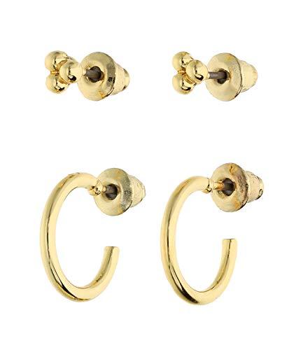 SIX Trendy Set de pendientes chapados en oro para mujer (647-760)