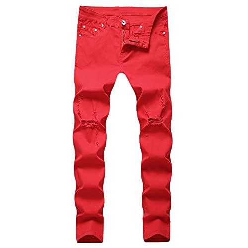 2021 Pantalones vaqueros para Hombre,Pantalones Moda Casual Jeans trend rotos Pantalones largo Pants...
