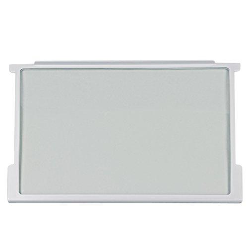 Gorenje 163336 ORIGINAL Glasplatte Scheibe Abdeckplatte Glasboden mit Halteleisten fürs Lebensmittelfach 465x300x7mm z.T. HZI2926 HZI2921 HS2226 HS1826 HI2226 HI1826 HI1526 G3000200 Kühlschrank