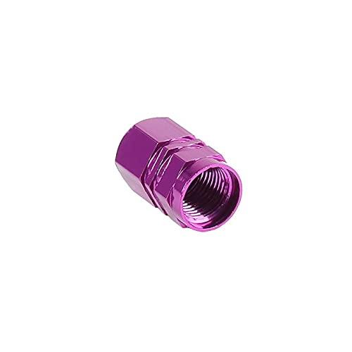 4 unids aleación de aluminio tapa de bicicleta rueda neumático cubierto de carrete de carro de coche neumático bicicleta de rueda de rueda de aire válvula de aire tapas accesorios ( Color : Purple )