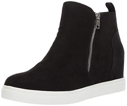 Madden Girl Women's PIPERR Sneaker, Black Fabric, 7.5