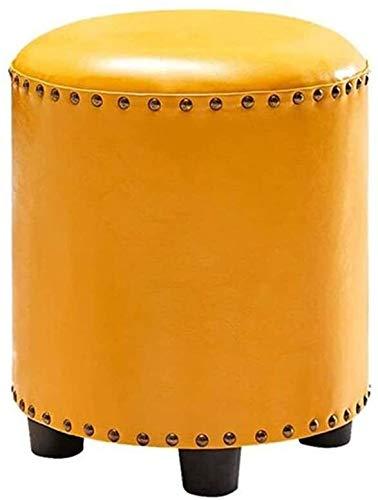 tgbnh Poggiapiedi Scarpe in Pelle Panca Semplice Salotto Sgabelli Domestici Decorazioni per la casa Sgabello da Tavolo, Arancione (Color : Orange)