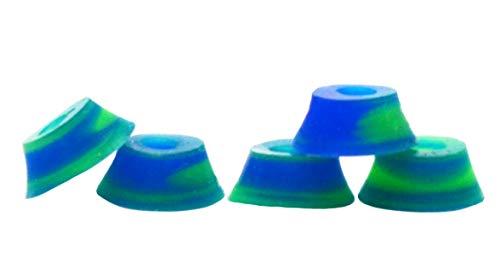 Teak Tuning Bubble Bushings, Professional Shaped Fingerboard Tuning, Blue/Green Swirl, Pack of 5