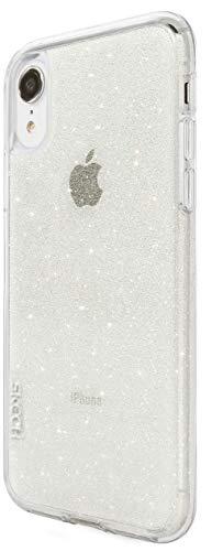 Preisvergleich Produktbild Skech Matrix Sparkle Schutzhülle für Apple iPhone XR (transparent) [Ultra robust I 2m Sturzfest I Glitzer-Optik I Erhöhte Displaykante I Schockabsorbierend] - SK30-MTX-SSPK