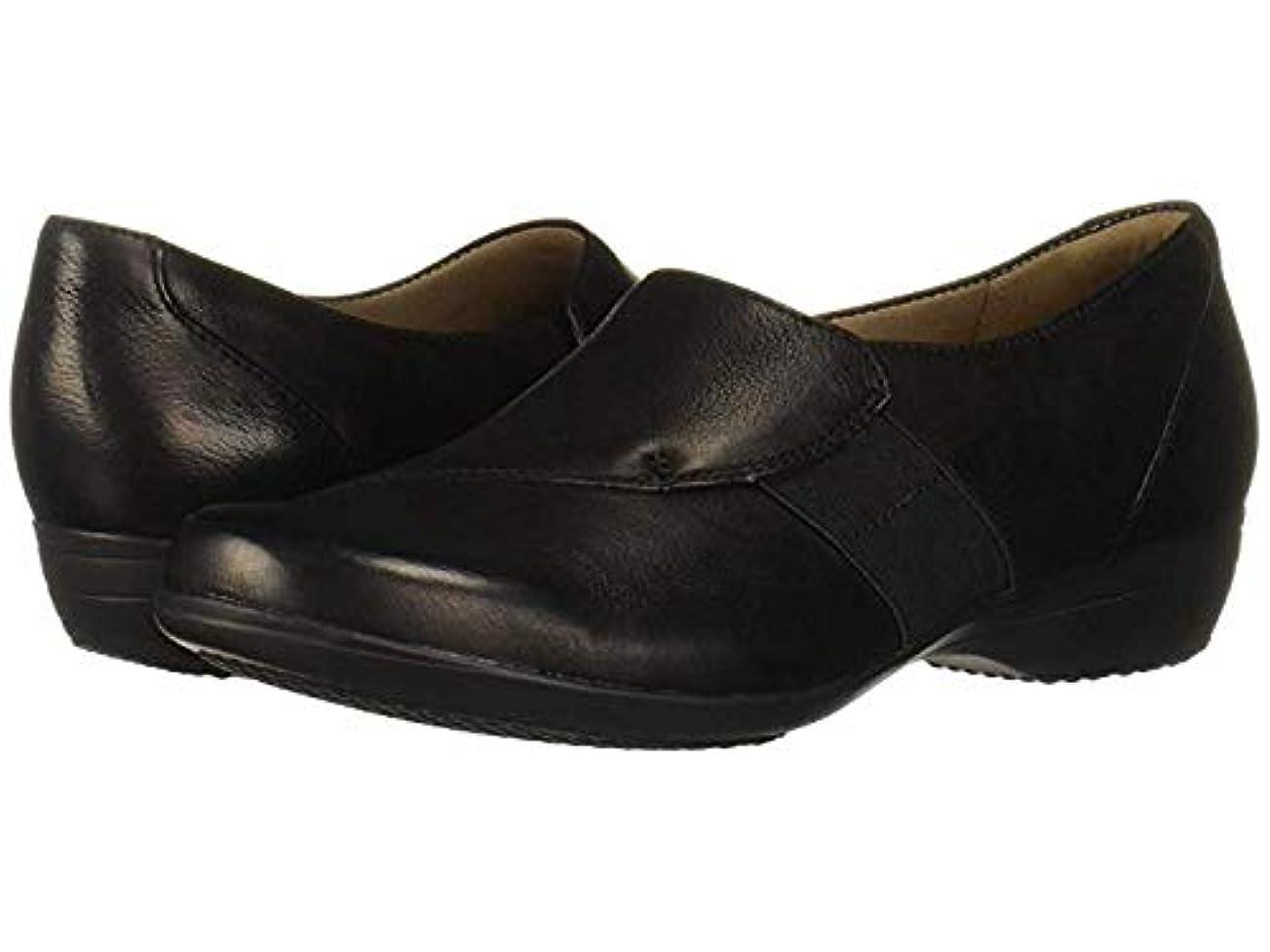 リネン自転車キャロラインレディースローファー?靴 Fae Black Burnished Nubuck (23.5-24cm) Regular [並行輸入品]