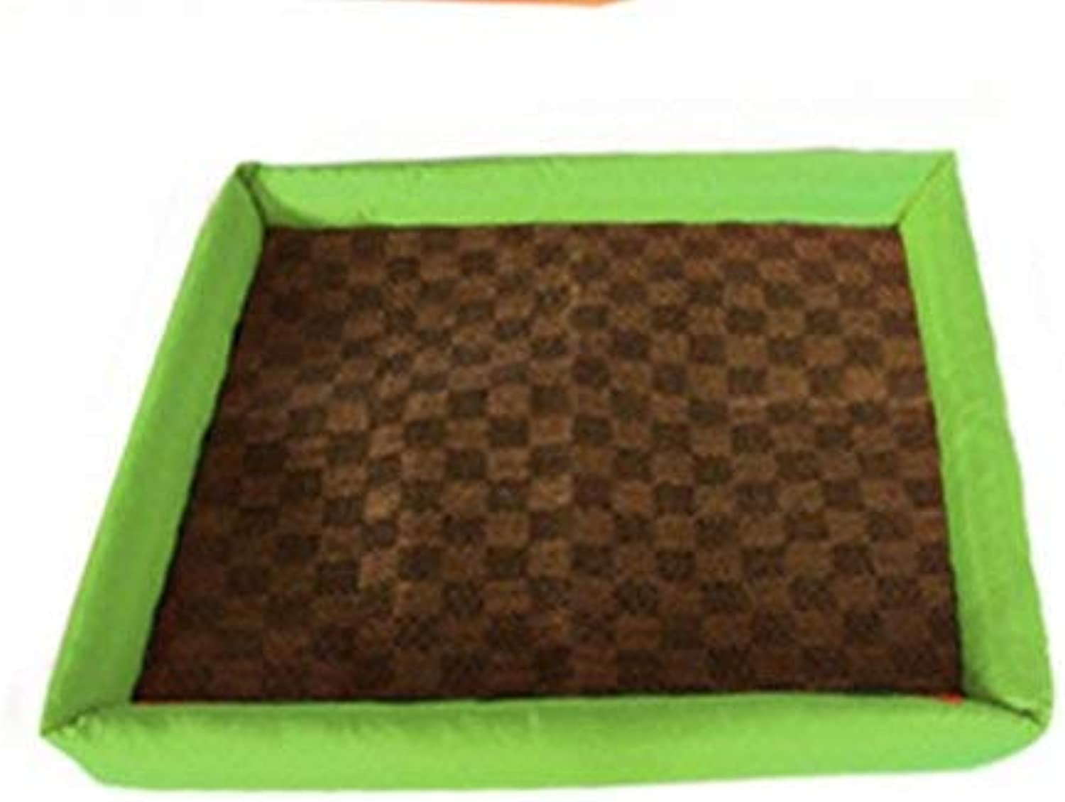 CFHJN HOME Puppy Dog Pet Cooler Cold Bed Pet Cooling Mat(Green,M) Pet Bed Blanket