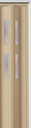 Zusatzlamelle 1er Set esche holzfarben 3D-Optik B 15,5 x H 202 cm mit 2 Fenster Strukturglas