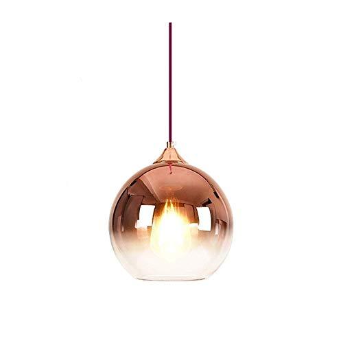 XIAOXY Lampadario in vetro Illuminazione Sfumatura sfumata, Sfera in vetro colorato Paralume E27 Lampada a sospensione Loft Bar Cucina Lampada da soffitto Colore globale Paralume in vetro Lampada a so