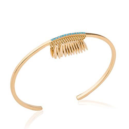 Les Trésors De Lily P1976 - Vergoldete armband offen 'Navajos' türkis gold.