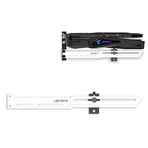 upHere Grafikkarte GPU Brace Support-Videokarte Sehnenhalter/Holster-Halterung,Einzelsteckkarten (Weiß),G276WT
