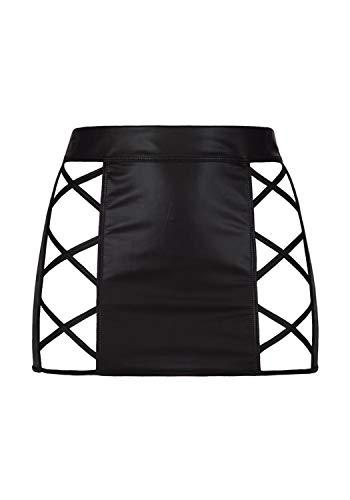 Axami Damen Minirock aus Latex XL