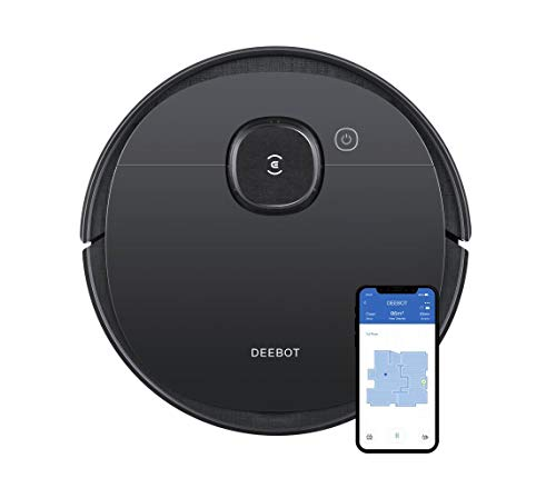 ECOVACS DEEBOT OZMO T5 2-in-1 Robot Vacuum & Mop with Precision Laser Mapping & Navigation, 3+ Hours of Runtime, High Efficiency Filter Ideal for Pet Hair, Advanced Custom Cleaning