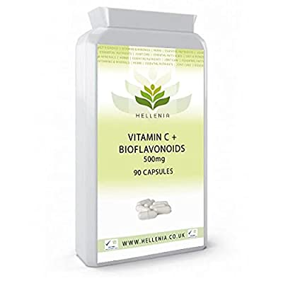 Hellenia Vitamin C + Bioflavonoids 500mg - 90 Capsules - Support for a Healthy Immune System