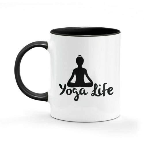 11Oz Funny Ceramic Mug- Yoga Life Hippie Mug Dad Mum Funny Coffee Gifts Cups, Unique Ceramic Novelty Gift For Women Men White Mug