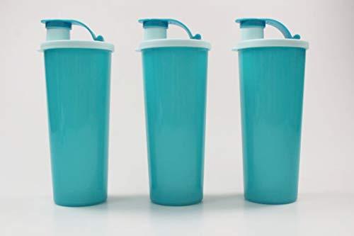Tupperware to Go Eco - Botella ecológica ecológica (470 ml, 3 unidades), color turquesa