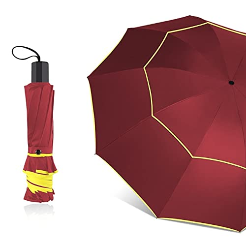 Paraguas plegable para mujer, 130 cm, doble capa, 10 capas, cortavientos, paraguay, modo de negocios, tamaño grande