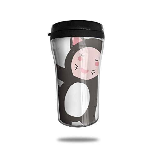 Like-like Enfant en Costume Voyage Tasse à Café Imprimé 3D Tasse À Vide Portable Isolé Tasse À Thé Gobelet De Bouteille d'eau (250 ML)