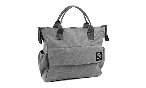 Jane Away borsa fasciatoio zainetto per passeggino con tasca termica, pochette e materassino fasciatoio (grigio)