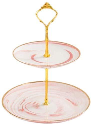 Placa de frutas Pastel de cerámica pintada soporte de porcelana for servir comida de chocolate Postre Tray Hotel Confitería Display pastelería soporte de la muestra Placa de ensalada Bandeja canasta d