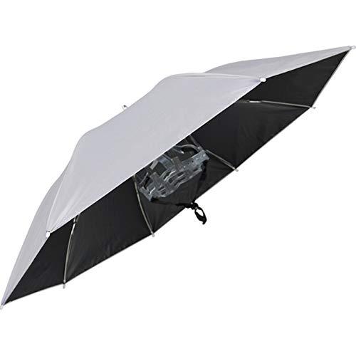 NNBD Sombrero de Paraguas de Pesca Grande Sombrero de Paraguas Plegable Sombrero de Paraguas Ajustable a Prueba de Viento para Sombrero de Paraguas al Aire Libre con Banda elástica