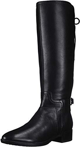 Geox Damen D Felicity B Hohe Stiefel, Schwarz (Black C9999), 38 EU