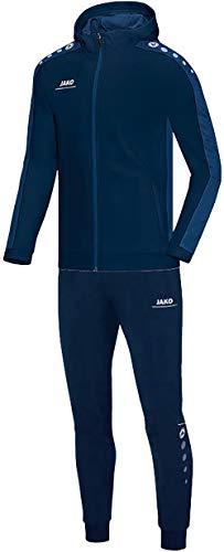 JAKO Herren Striker mit Kapuze Trainingsanzug Polyester, Marine/Nightblue, S