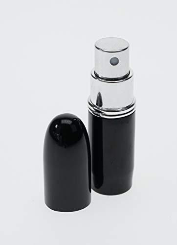 Fantasia - Vaporisateur de poche métal noir pour 4 ml Hauteur 7,5 cm
