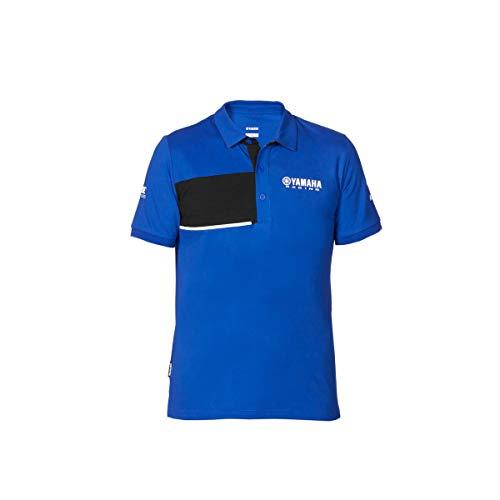 Yamaha Paddock Herren Poloshirt, Piqué, 2020, Blau