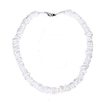 BlueRica Puka Chip Shell Beads Necklace  16 Inches