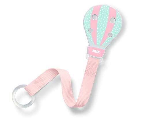 NUK NUK Schnullerband, für alle Schnuller mit und ohne Ring, 1 Stück, Ballon, grün