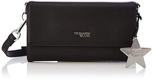 Trussardi Jeans T-Easy Clutch Charm Star Logo, Pochette da Giorno...