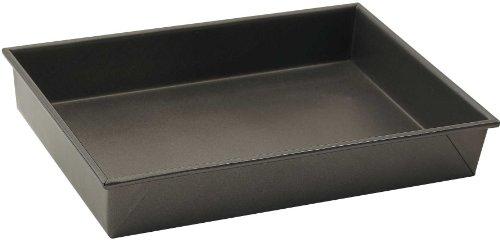 WINCO Rechteckige Kuchenform, antihaftbeschichtet, 33 x 22,9 cm, aluminierter Stahl