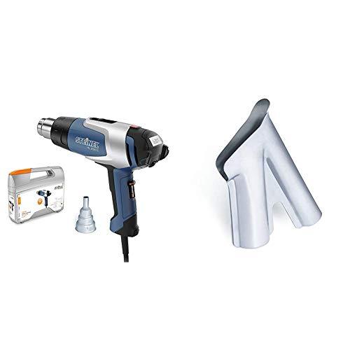 Steinel HL 2020 E - Pistola de aire caliente, Potencia de 2200 W, Temperatura de 80-630 °C + Steinel 070915 Tobera soldadora 9 mm
