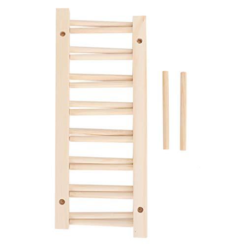 Estante de secado para utensilios de soporte de plato de madera de 7 rejillas, escurridor de platos para utensilios de cocina, utensilios para encimera de cubiertos de cocina