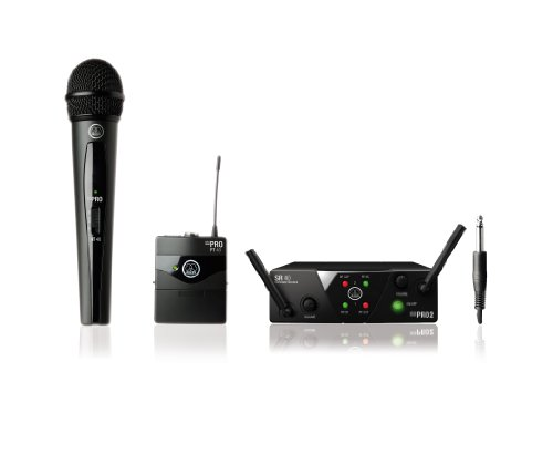 AKG WMS40 Mini Dual Vocal Handheld Instrument Wireless Microphone System
