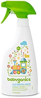 Babyganics Toy & Highchair Cleaner Spray, Fragrance Free, 17oz Spray Bottle