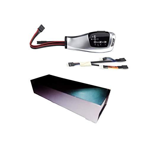 XMSM Schaltknauf Auto Schaltknauf Schalthebel Automatik-Gangschaltung Mit Licht Für BMW E39 E53 E46 E60 E61 E90 E92 E93 E87 E83 X3 Automatik Schalthebel (Color : E39 E53 Silver)
